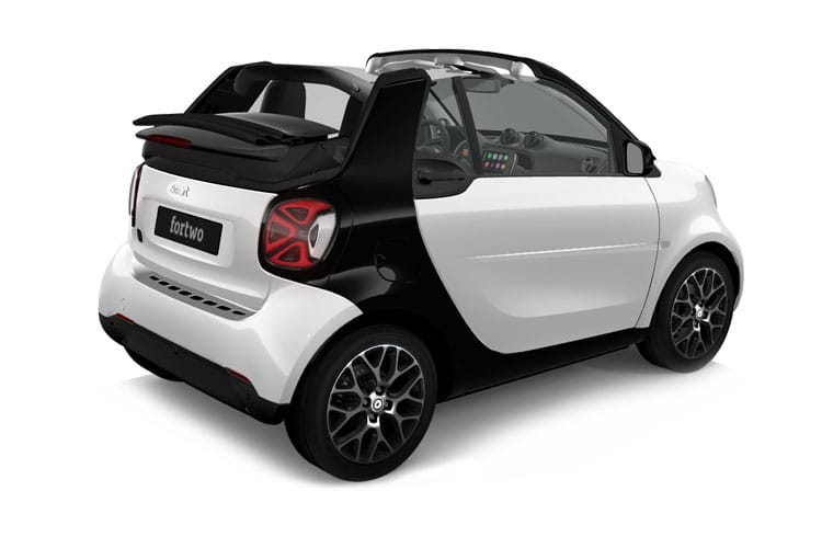 Smart ForTwo EQ ForTwo Cabriolet 2Dr Elec Drv 17.6kWh 60KW 82PS Prime Premium 2Dr Auto [22kW Charger] back view