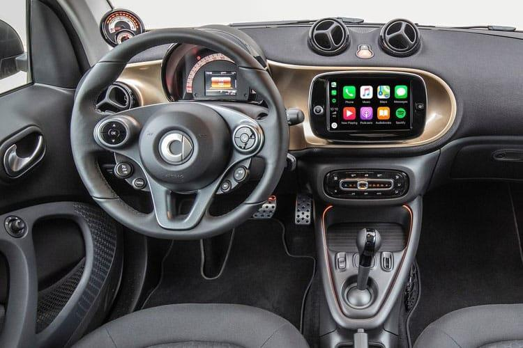 Smart ForTwo EQ ForTwo Coupe 2Dr Elec Drv 17.6kWh 60KW 82PS edition bluedawn 2Dr Auto [22kW Charger] inside view